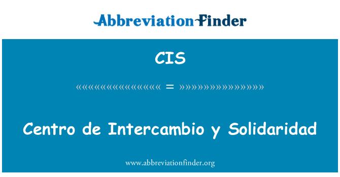CIS: Centro de Intercambio y Solidaridad