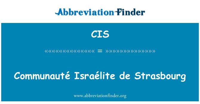 CIS: Communauté Israélite de Strasbourg