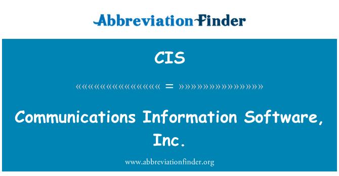 CIS: Communications Information Software, Inc.