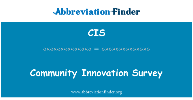 CIS: Community Innovation Survey
