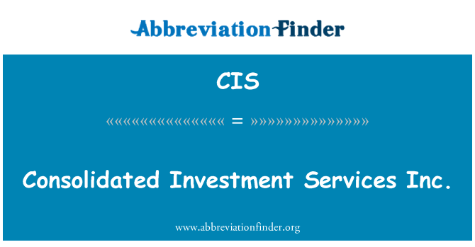 CIS: Consolidated Investment Services Inc.