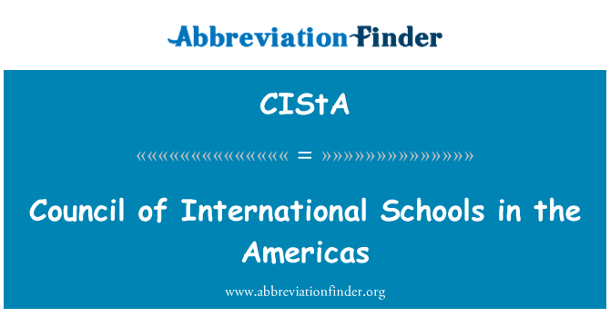 CIStA: Council of International Schools in the Americas