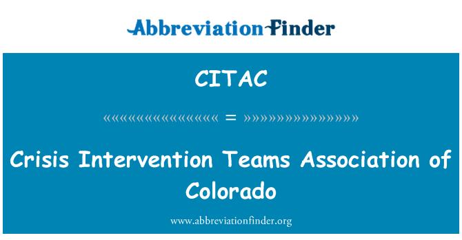 CITAC: Asociación de equipos de intervención de crisis de Colorado