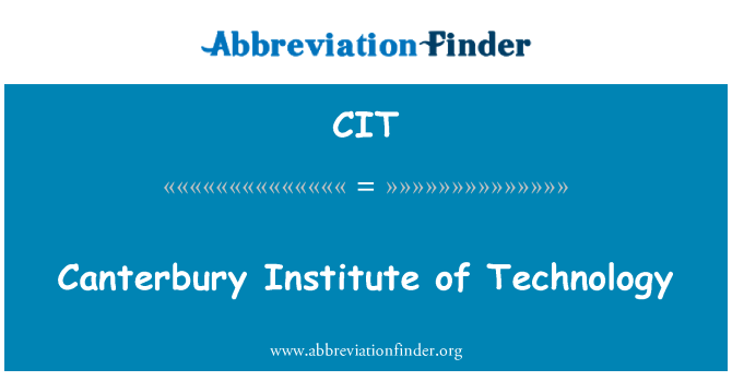 CIT: Canterbury Institute of Technology