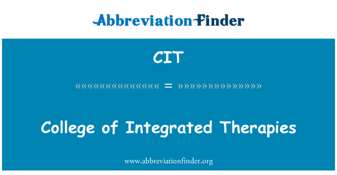 CIT: College of Integrated Therapies