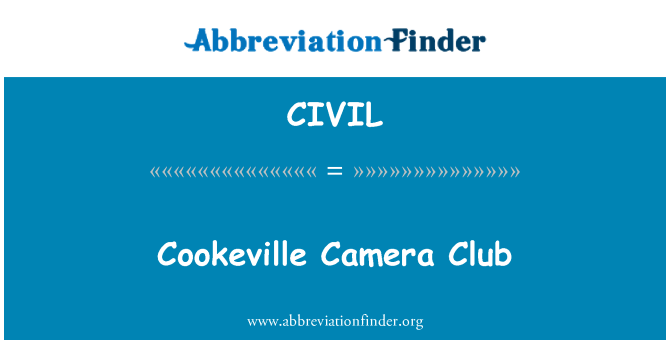 CIVIL: Cookeville Camera Club