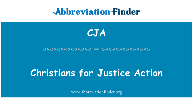 CJA: Christians for Justice Action