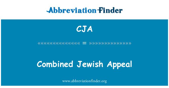 CJA: Combined Jewish Appeal