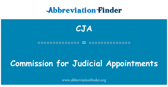 CJA: Commission for Judicial Appointments
