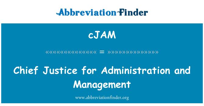 cJAM: Oberrichter für Administration und Verwaltung