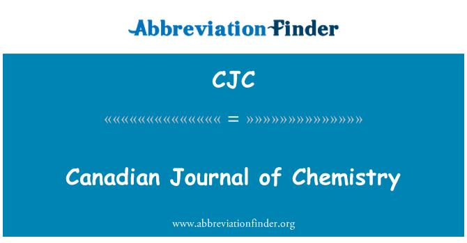 CJC: Canadian Journal of Chemistry