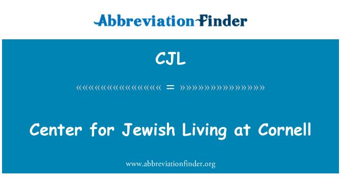 CJL: Center for Jewish Living at Cornell