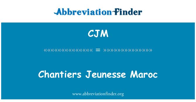 CJM: Chantiers Jeunesse Maroc