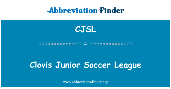 CJSL: Clovis Junior Soccer League