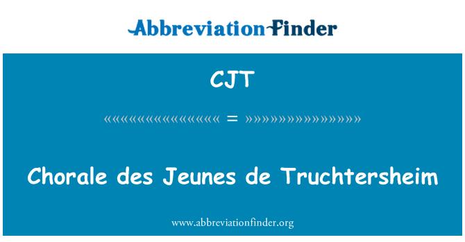 CJT: Chorale des Jeunes de Truchtersheim