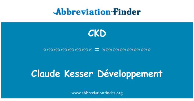 CKD: Claude Kesser Développement