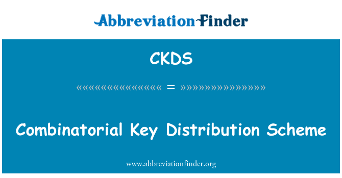 CKDS: Kombinatoorne jaotuse kava