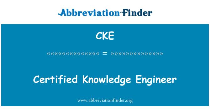 CKE: Certified Knowledge Engineer