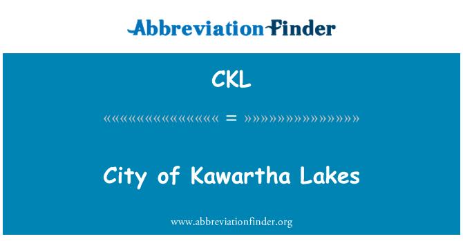 CKL: City of Kawartha Lakes