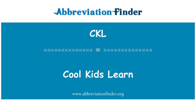 CKL: Cool Kids Learn