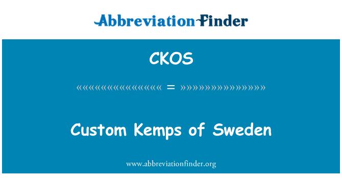 CKOS: Custom Kemps of Sweden