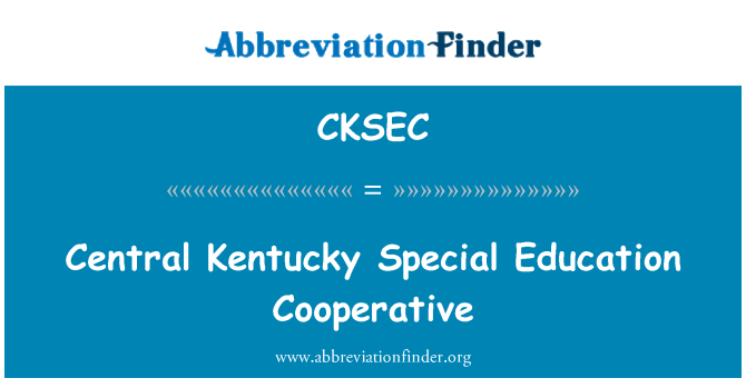 CKSEC: Central Kentucky Special Education Cooperative