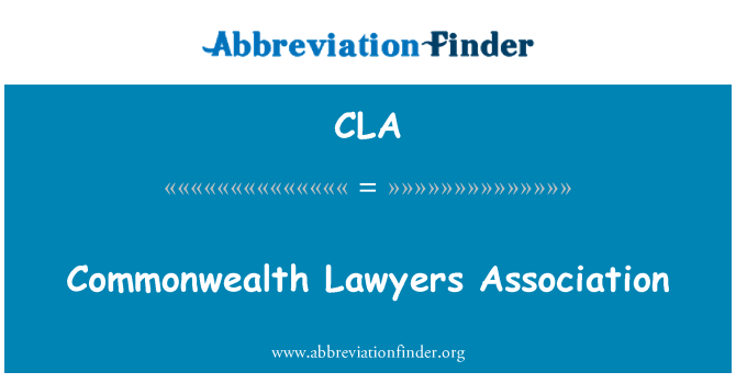 CLA: Commonwealth Lawyers Association