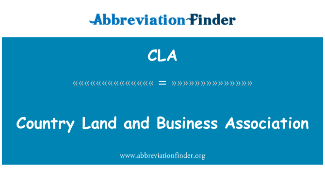 CLA: Country Land and Business Association
