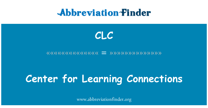 CLC: Center for Learning ühendused