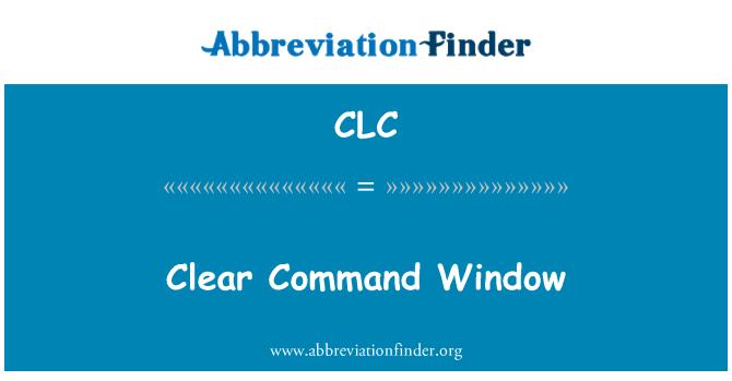 CLC: Clara ventana de comandos