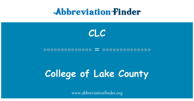 CLC: College of Lake County