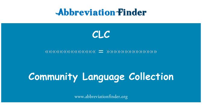 CLC: Ühenduse keele kogumine