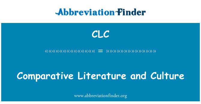 CLC: Võrdlevat kirjandust ja kultuuri