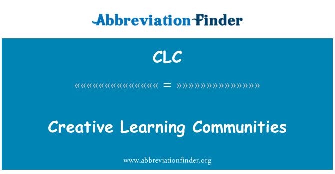 CLC: Comunidades de aprendizaje creativo