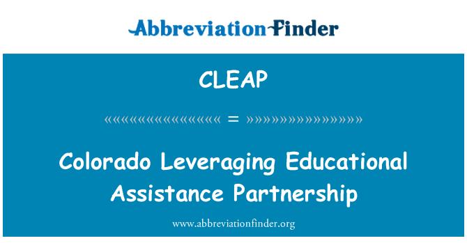 CLEAP: Colorado Leveraging Educational Assistance Partnership