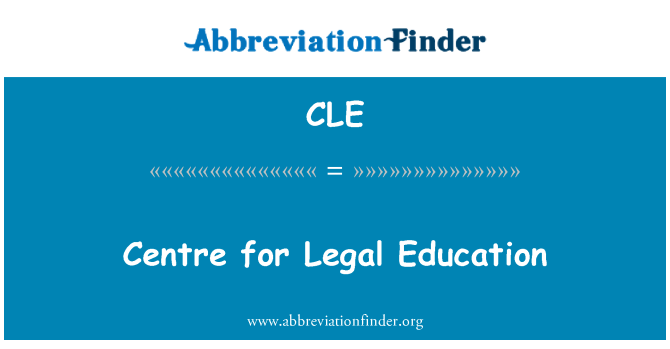 CLE: Centre for Legal Education