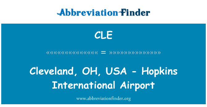 CLE: Cleveland, OH, USA - Hopkins International Airport