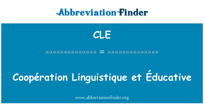 CLE: Coopération Linguistique et Éducative