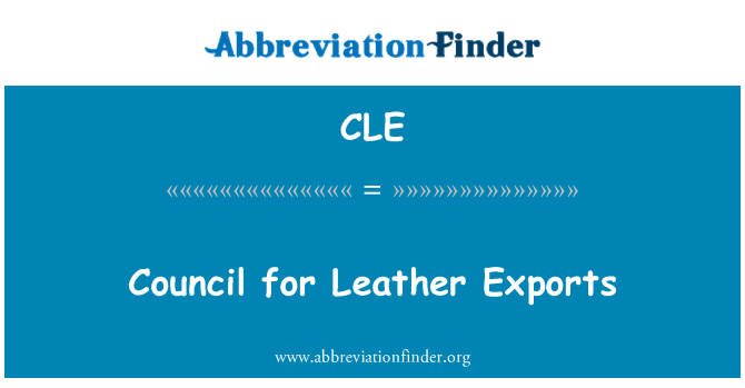 CLE: Council for Leather Exports
