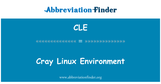 CLE: Cray Linux Environment