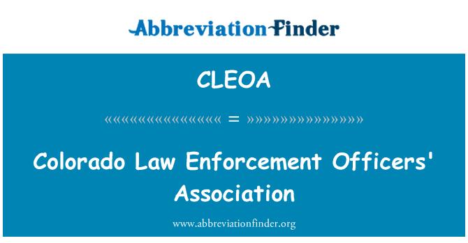 CLEOA: Colorado Law Enforcement Officers' Association