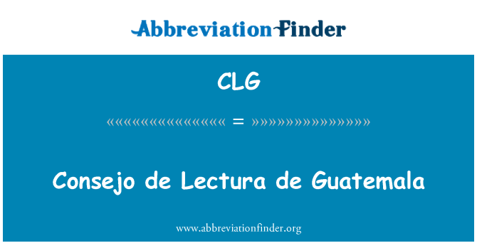 CLG: Consejo de Lectura de Guatemala