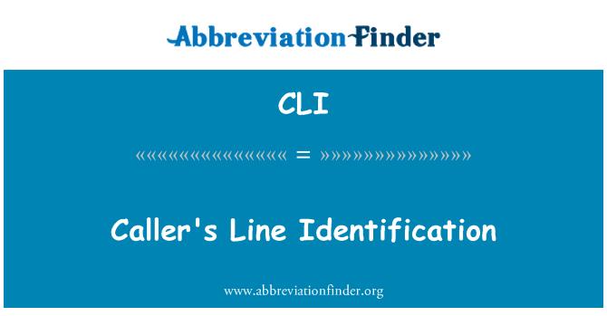 CLI: Caller's Line Identification