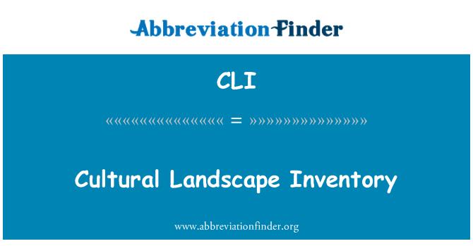 CLI: Cultural Landscape Inventory