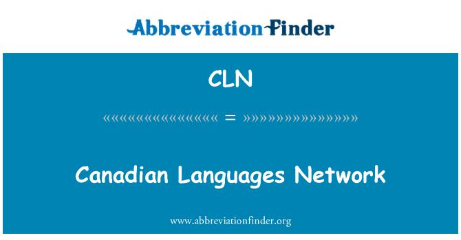 CLN: Canadian Languages Network