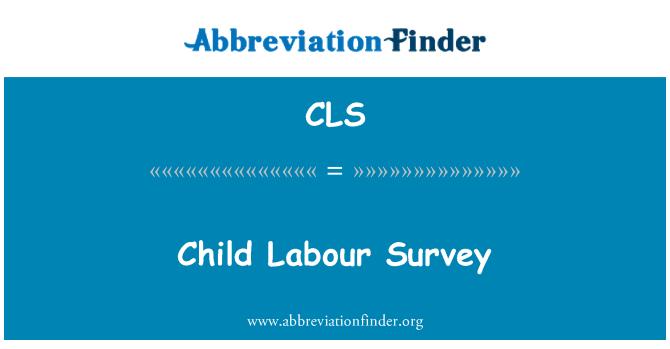 CLS: Child Labour Survey