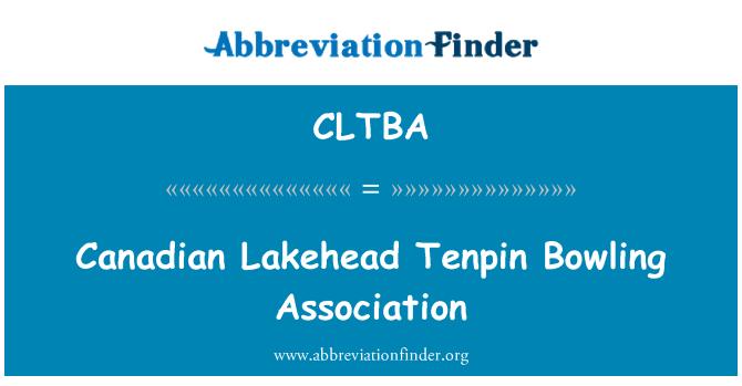 CLTBA: Canadian Lakehead Tenpin Bowling Association