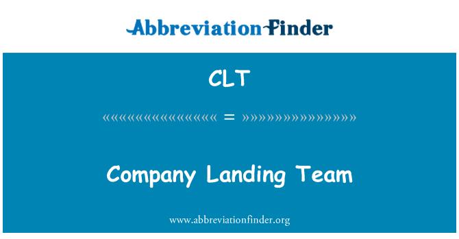 CLT: Company Landing Team