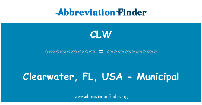 CLW: Clearwater, FL, USA - Municipal