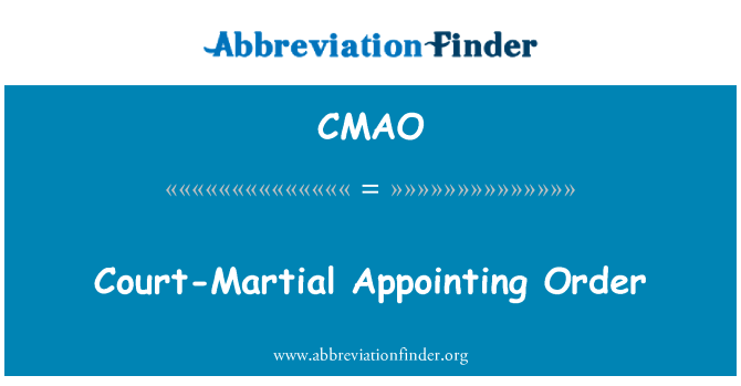 CMAO: Court-Martial borang pesanan
